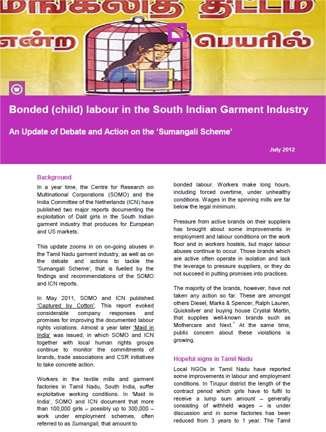 Bonded (child) labour in Indian garment industry draws